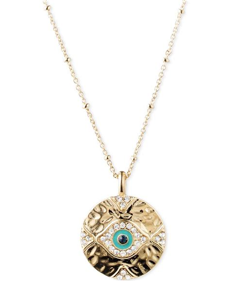 lonna lilly gold tone evil eye pendant necklace in