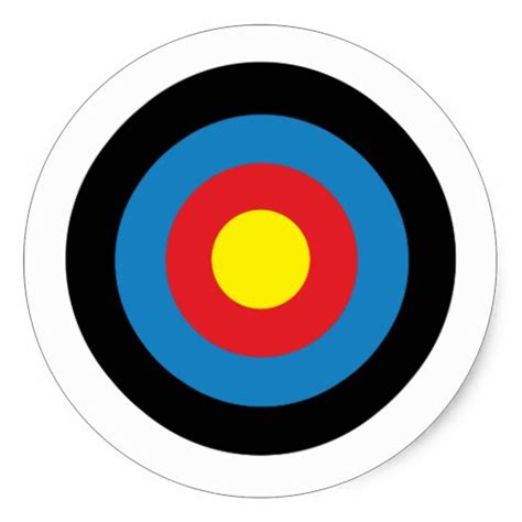 l target archery target pack of 6 20 classic round sticker zazzle
