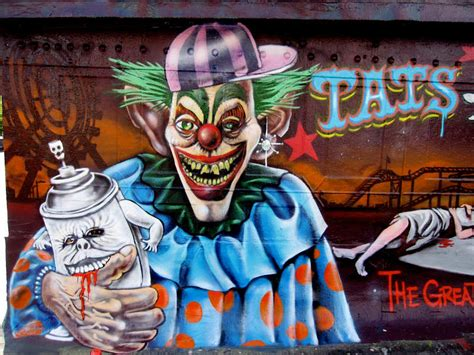 scary graffiti monsters  freaky murals  enrich