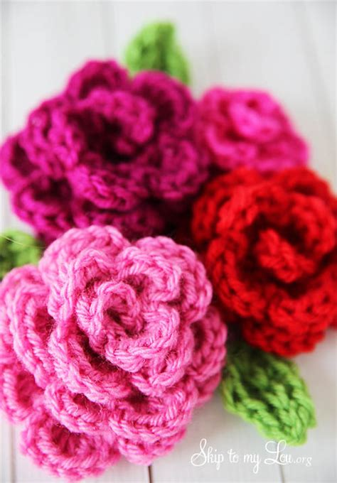 free pattern to crochet a rose free easy rose crochet pattern skip to my lou