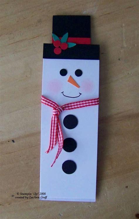 punch art snowman bookmark flowerbugs inkspot