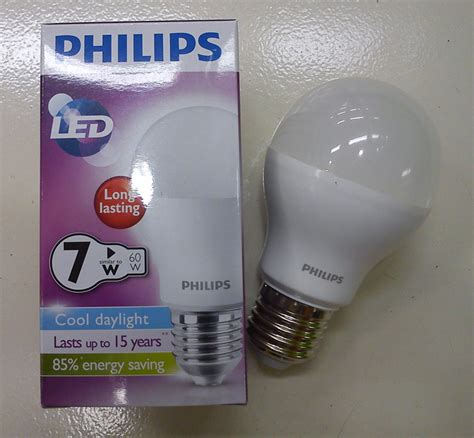 Lu Bohlam Led Philips 4 Watt Warm White Kuning jual bohlam lu philips led bulb 7 watt putih unique