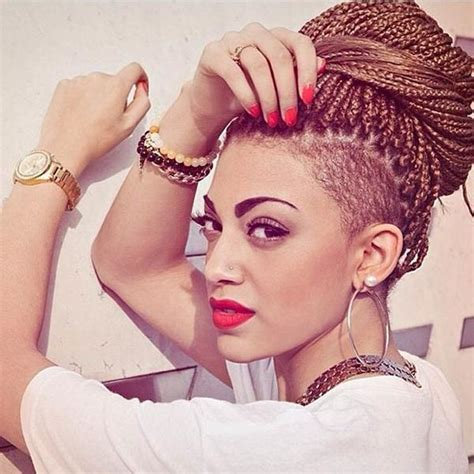 micro braids undercut under cut hairstyles for girls hairstyle for women