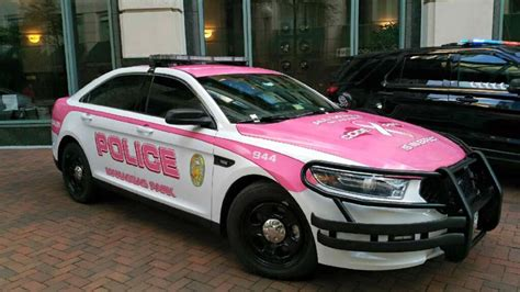 manassas park police roll out code pink cop car for