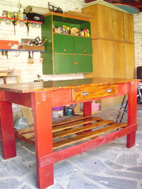 banco de carpinteria banco de trabajo con madera de palet bricolaje