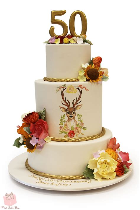 50th Anniversary Floral Inspired Cake » Celebration Cakes