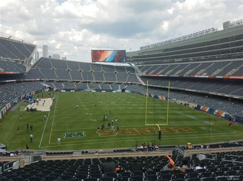soldier field section 224 chicago bears rateyourseats
