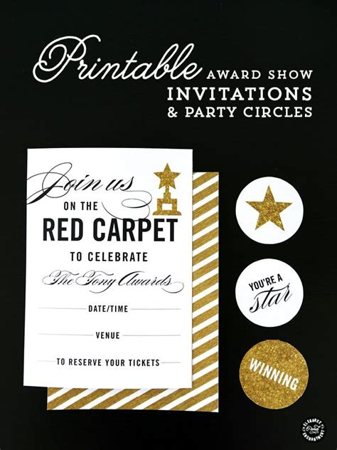 carpet award show printables invitation and
