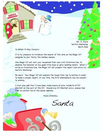 on the shelf letter from santa template 1000 images about santa letters on free santa