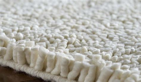Wool Shag Rug Aros Collection New Zealand Felted Wool Shag Rug In Winter