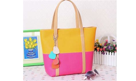 Open Po Tote Bag Pouch 3 Ruang pu leather shoulder tote bag groupon goods