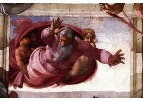 Sisteen Chapel Ceiling by Sistine Chapel God Separates Earth From The Waters