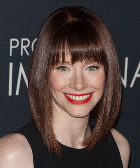the dallas hairstyle bryce dallas howard medium straight formal bob hairstyle