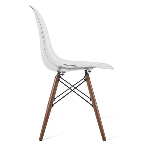 Clear Chair - eames style dsw clear acrylic plastic dining shell chair