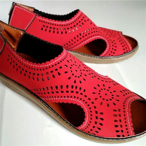 sepatu sendal wanita flat shoes laser my03 elevenia