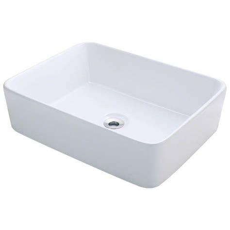 polaris sinks porcelain vessel sink in whitep041vw the