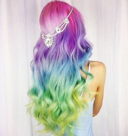 rainbow hair colors 10 fashionable rainbow hair color ideas