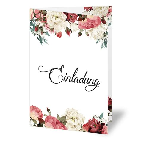 Einladungskarten Hochzeit Blumen by Einladungen Zum Geburtstag Blumen Klappkarten