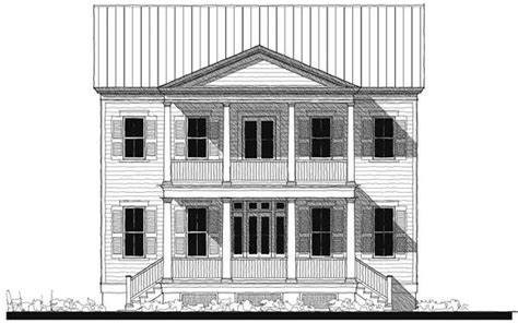Historic Southern House Plans Historic Southern House Plan 73746