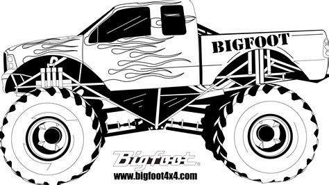 bigfoot monster truck logo monster truck coloring pages