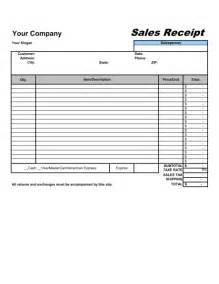 sales receipt template amp sample form biztree com