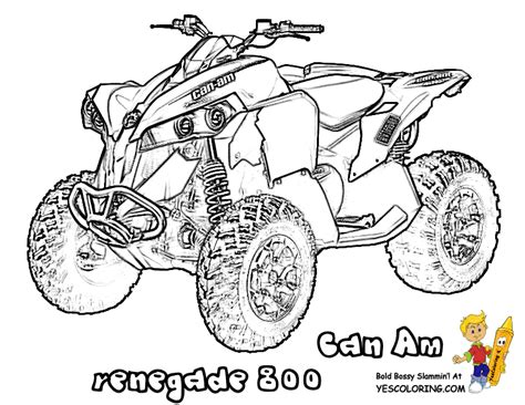 Gallery For Gt 4 Wheeler Coloring Page Coloring Pages Four Wheeler