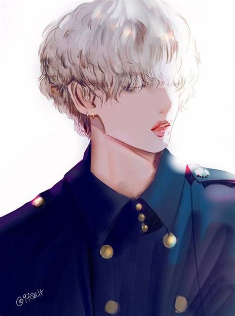V Anime Bts by Pin By Vee On V Bts Chibi Bts Drawings