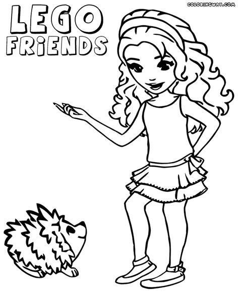 coloring page lego friends coloring pages lego friends coloring home