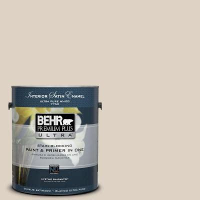 behr premium plus ultra 1 gal pwn 42 parisian taupe satin enamel interior paint 775001 the