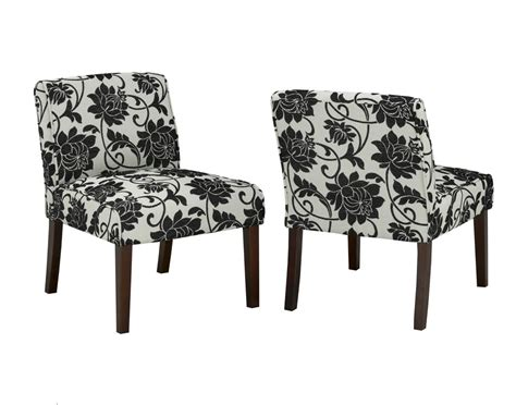 floral accent chair canada skyline furniture traditional slipper cotton armless