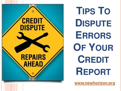 Dispute Credit Report Errors Letter Tips To Dispute Errors Of Your Credit Report