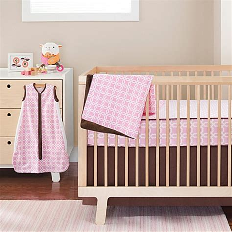 Complete Nursery Bedding Sets Buy Skip Hop 174 Pink Lattice Complete Sheet 4 Crib Bedding Set From Bed Bath Beyond