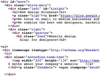 design website get html code glossary of web design development terminology