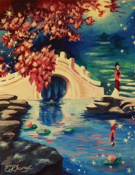 acrylic painting reflections reflection disney