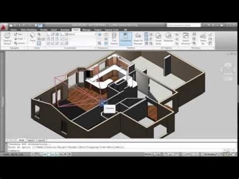 using camera in autocad create a view for interior design