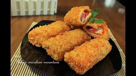 resep risoles mayonaise sosis pedas youtube