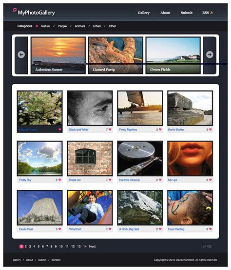 website gallery tutorial 50 best website interface photoshop tutorials hongkiat