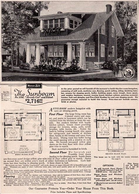 sears craftsman bungalow house plans beautiful 1923 sears