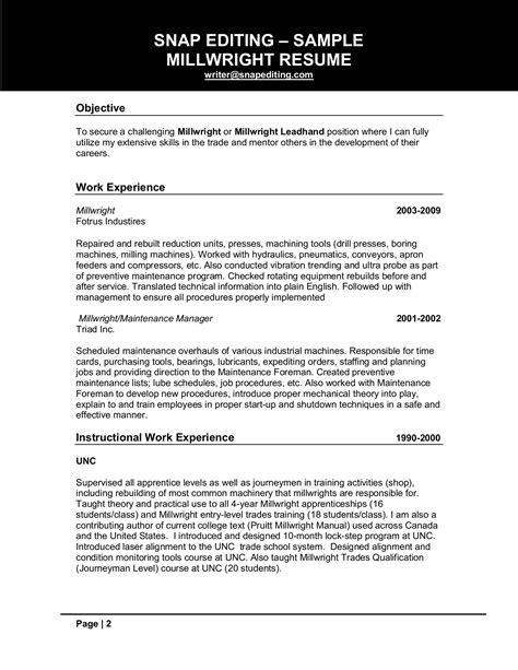 millwright cover letter best millwright cover letter