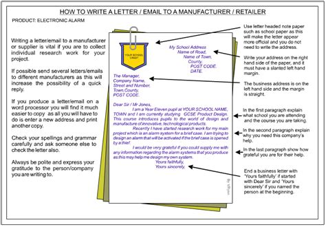 Formal Letter Sle Gcse Writing A Letter