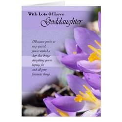goddaughter purple crocus birthday card zazzle
