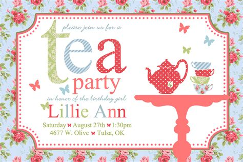 printable tea invitations template tea invitations wording begin the invites