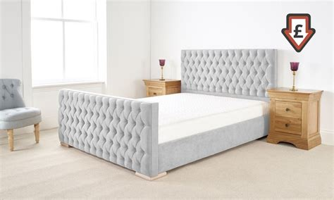 Bed Frame And Mattress Deals Uk Fabric Bed Frame Groupon Goods