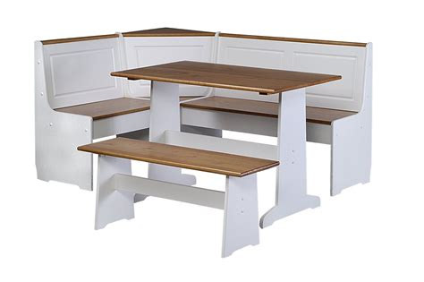white bench table kitchen table with bench