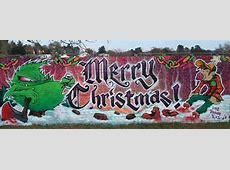 graffiti walls: Christmas Graffiti : Merry Christmas Q Alphabet Wallpaper