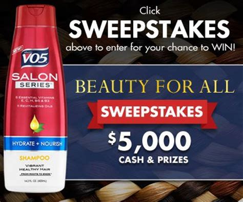 Vo5 Sweepstakes - enter daily to win vo5 salon series 5 000 cash beauty sweepstakes thrifty momma