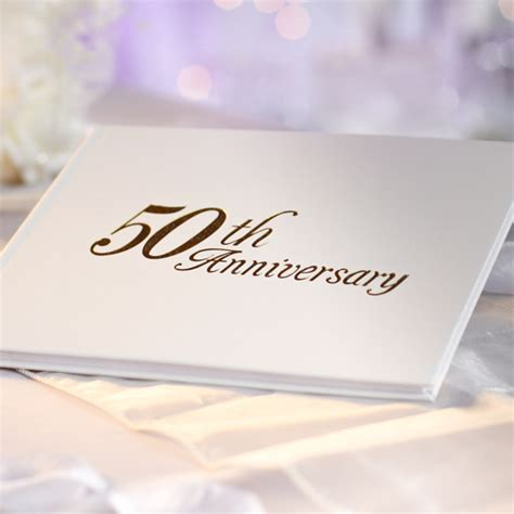 """50th Anniversary"" Guest Registry Book   Anniversary"