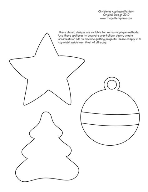 printable christmas ornament patterns the pattern place