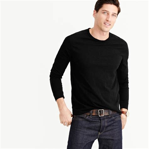 J Crew Discount Gift Card - j crew men s long sleeve textured cotton t shirt white navy from j crew for 14 99