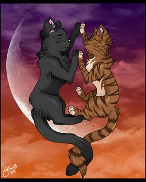 Crowfeather and Leafpool - Clan Cats... Leafpool And Crowfeather Mating